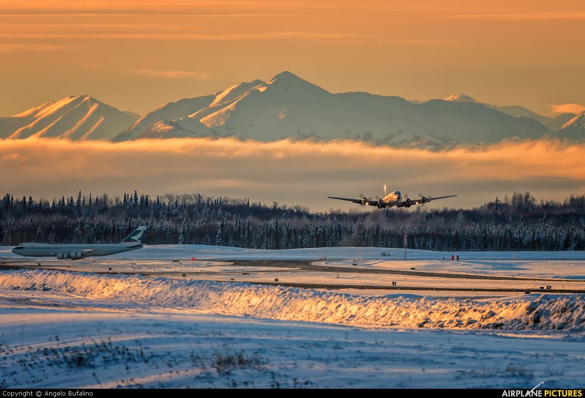 Everts Air Cargo N100CE aircraft at Anchorage - Ted Stevens Intl / Kulis Air National Guard Base