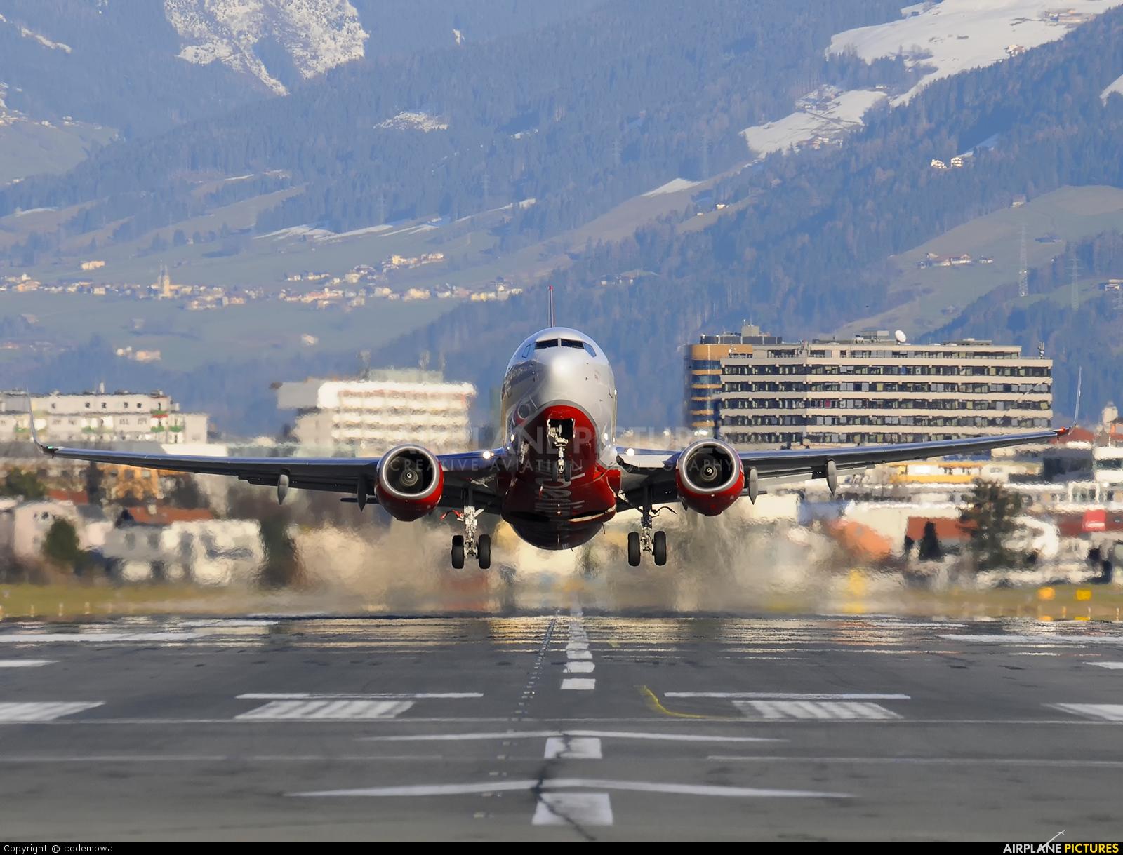 Air Berlin D-ABLA aircraft at Innsbruck