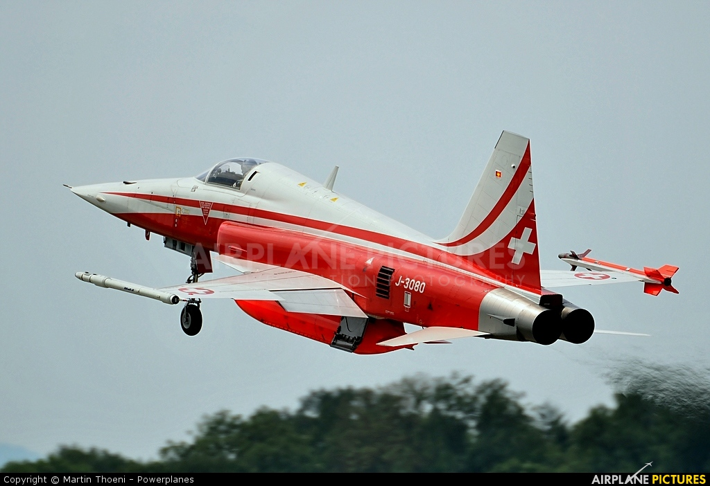 Switzerland - Air Force:  Patrouille de Suisse J-3080 aircraft at Payerne