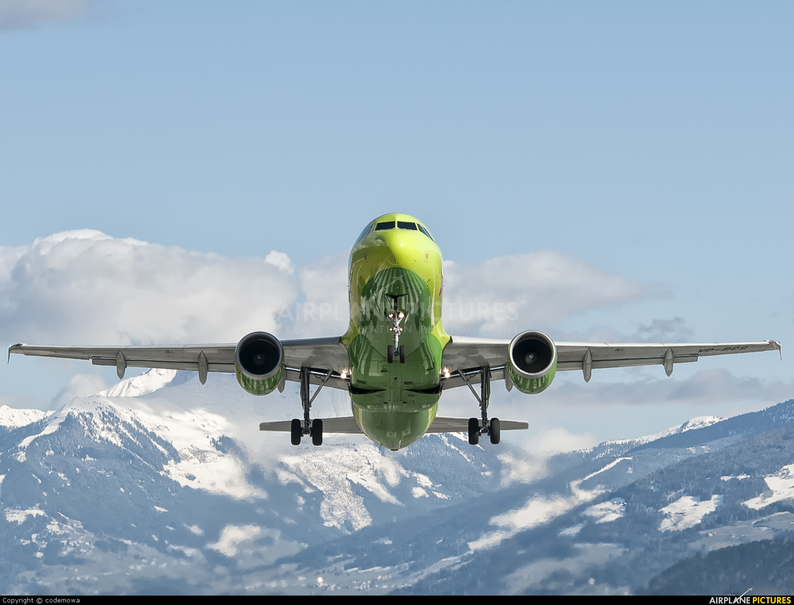 S7 Airlines VP-BCS aircraft at Innsbruck