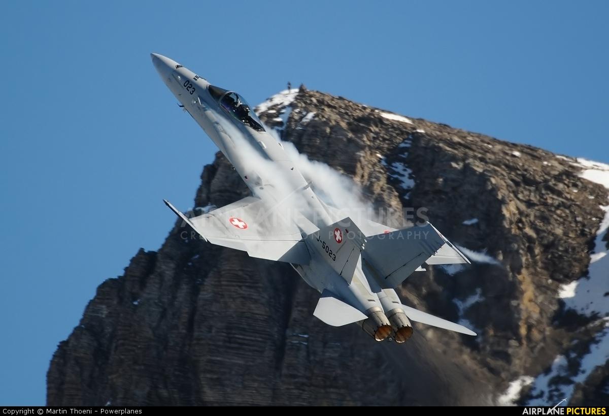 Switzerland - Air Force J-5023 aircraft at Axalp - Ebenfluh Range