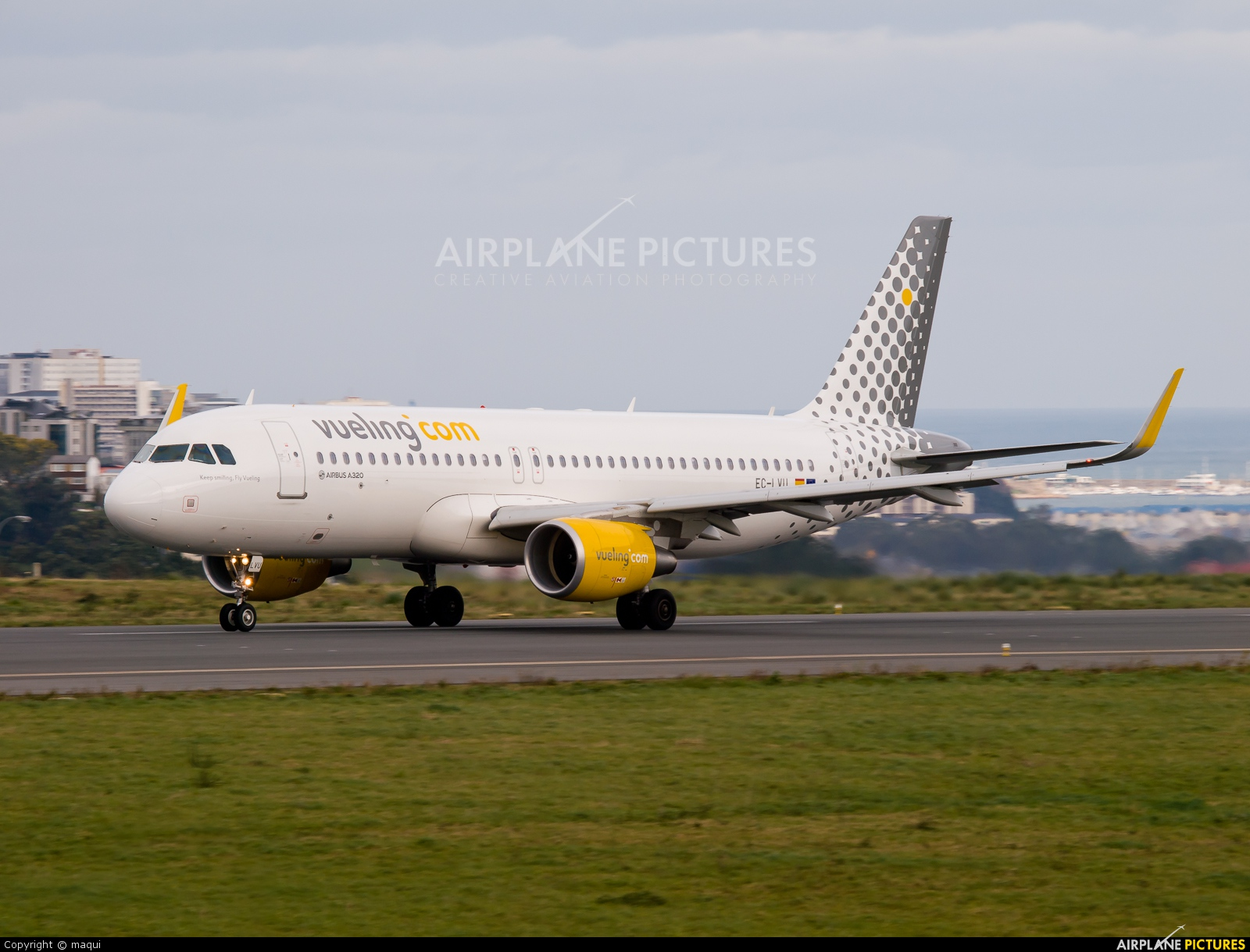 Vueling Airlines EC-LVU aircraft at La Coruña