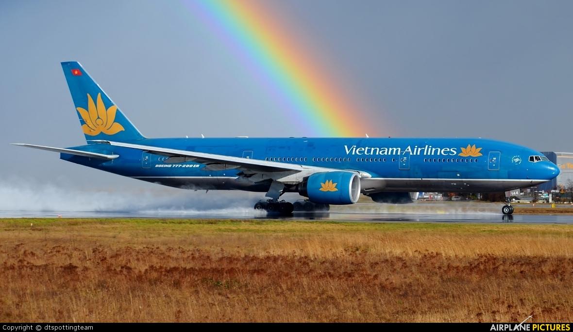Vietnam Airlines VN-A144 aircraft at Frankfurt