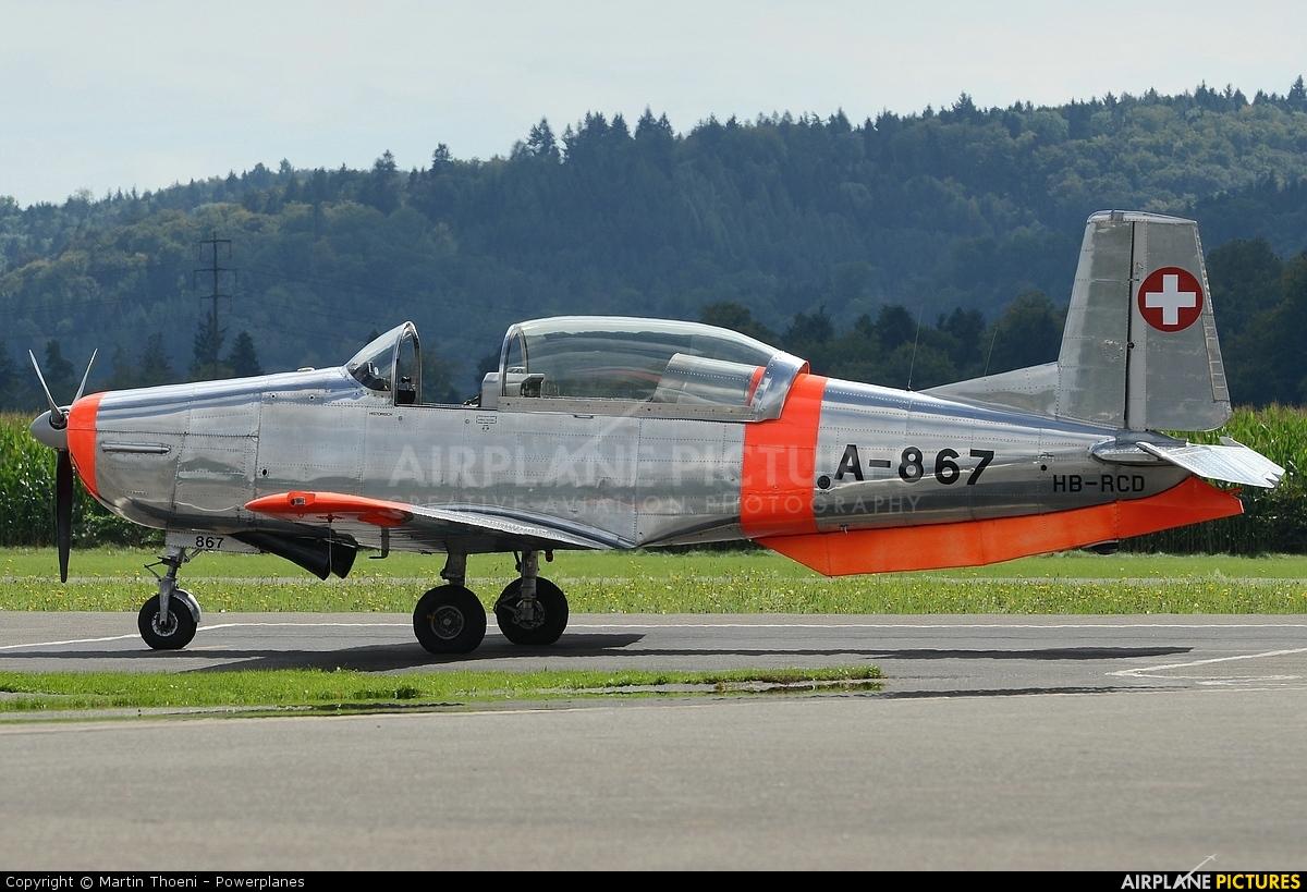 Private HB-RCD aircraft at Birrfeld