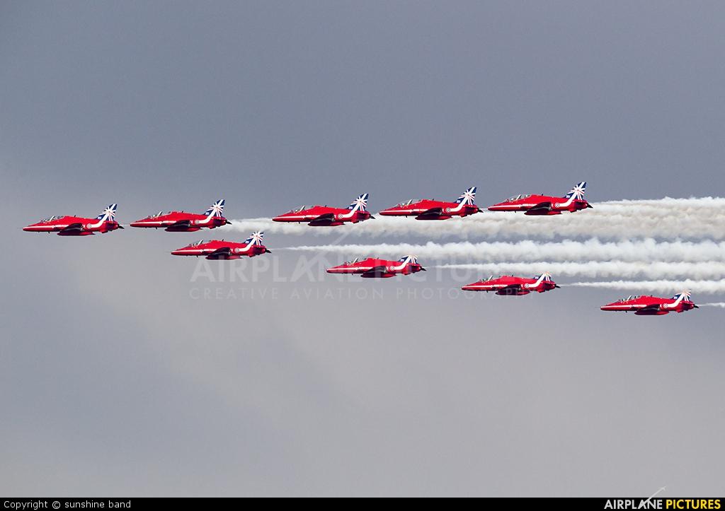 "Royal Air Force ""Red Arrows"" XX244 aircraft at Scampton"