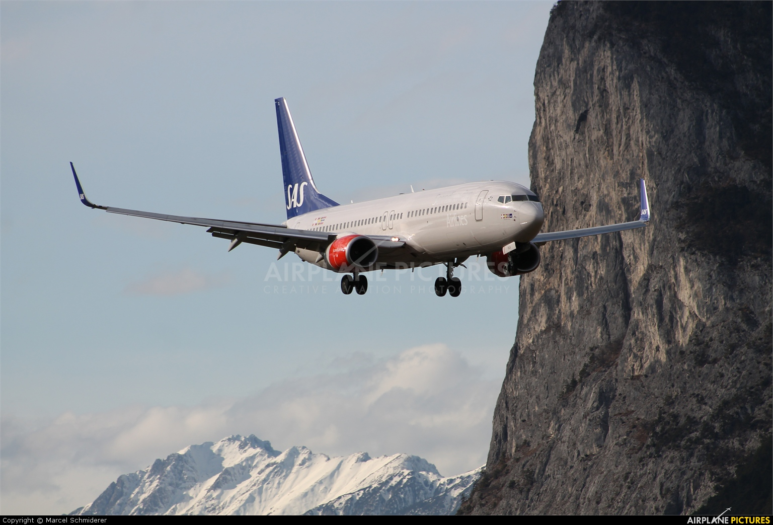 SAS - Scandinavian Airlines LN-RGA aircraft at Innsbruck
