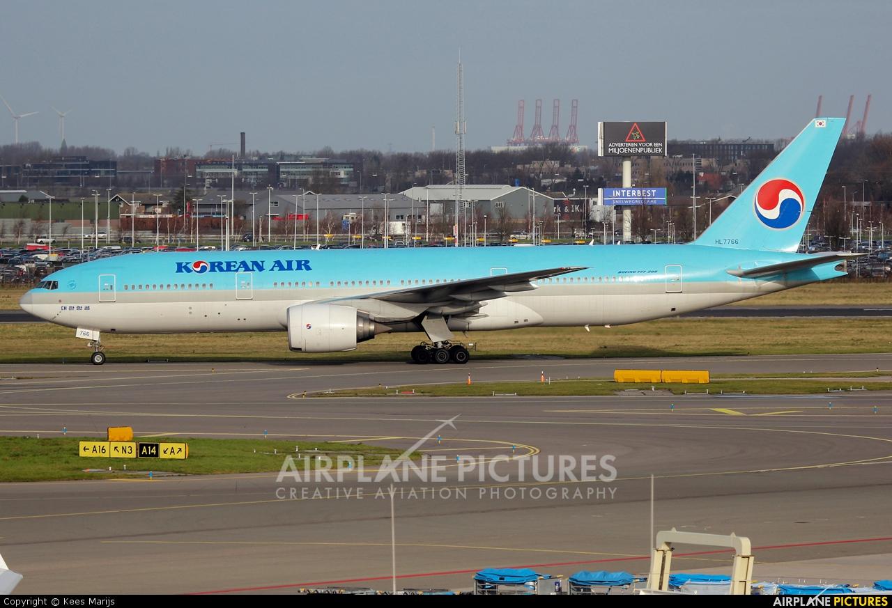 Korean Air HL7766 aircraft at Amsterdam - Schiphol