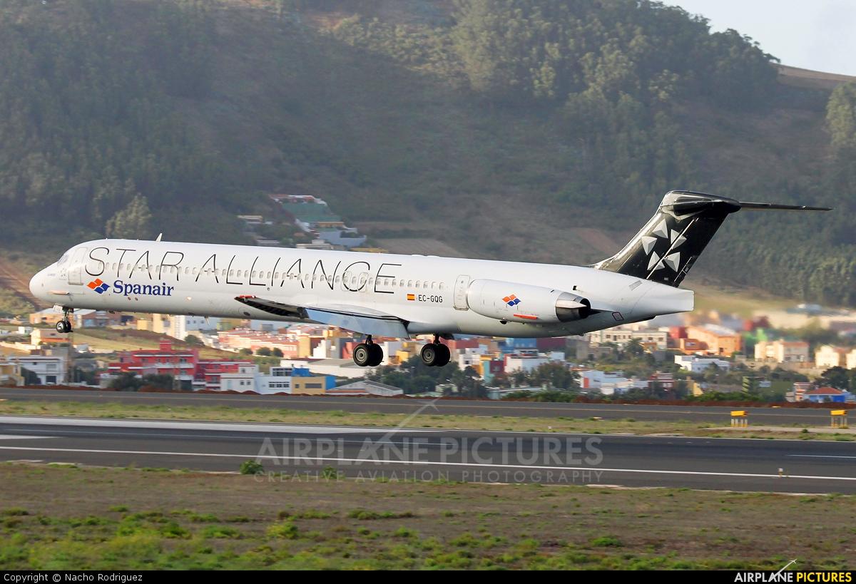 Spanair EC-GQG aircraft at Tenerife Norte - Los Rodeos