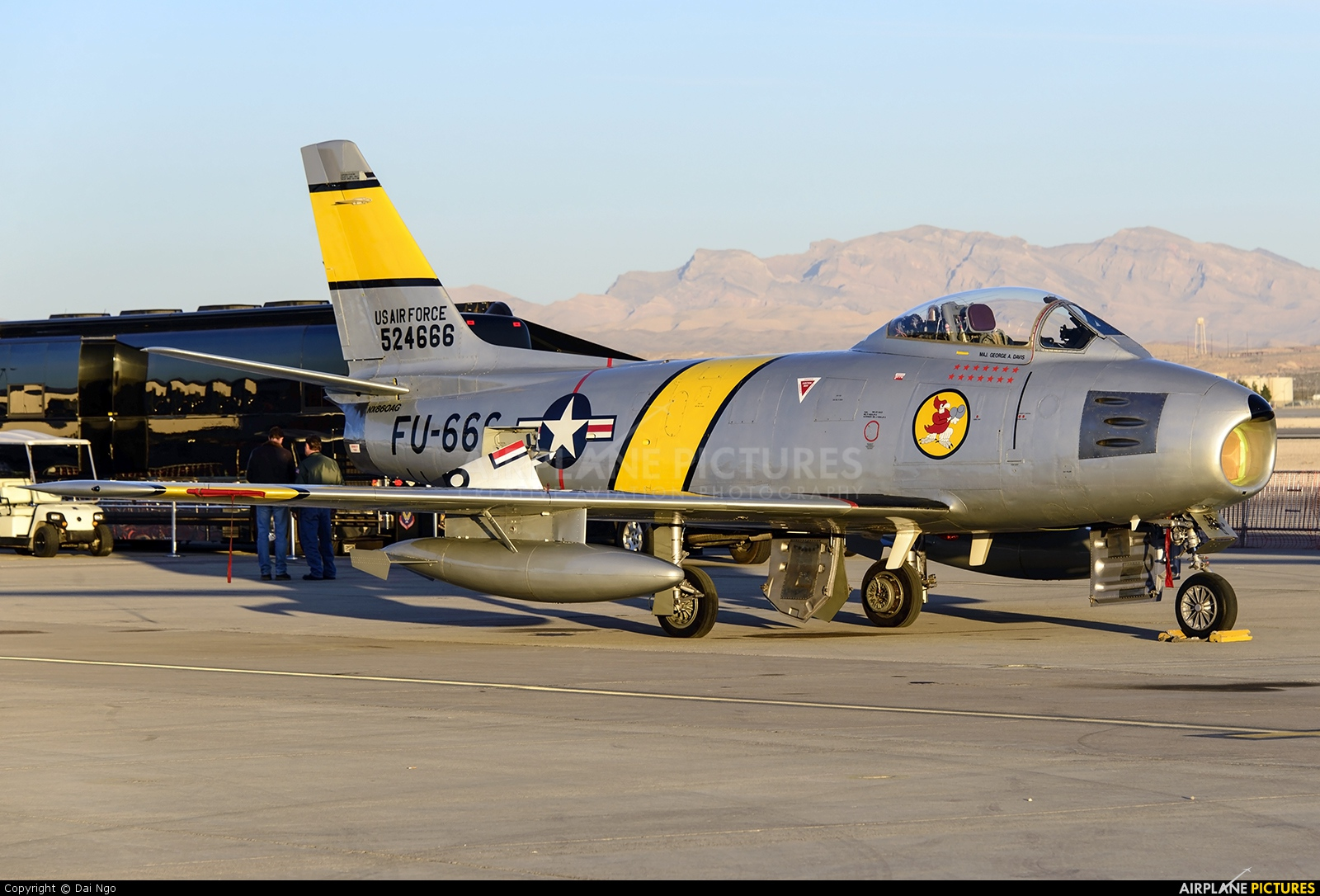 Private NX860AG aircraft at Nellis AFB