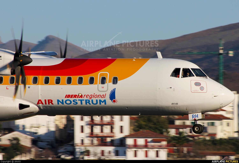 Air Nostrum - Iberia Regional EC-LRH aircraft at San Sebastian