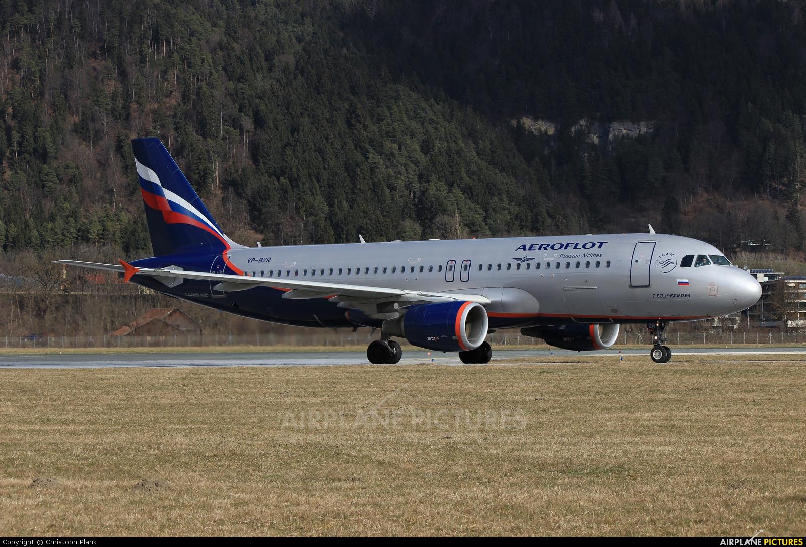 Aeroflot VP-BZR aircraft at Innsbruck