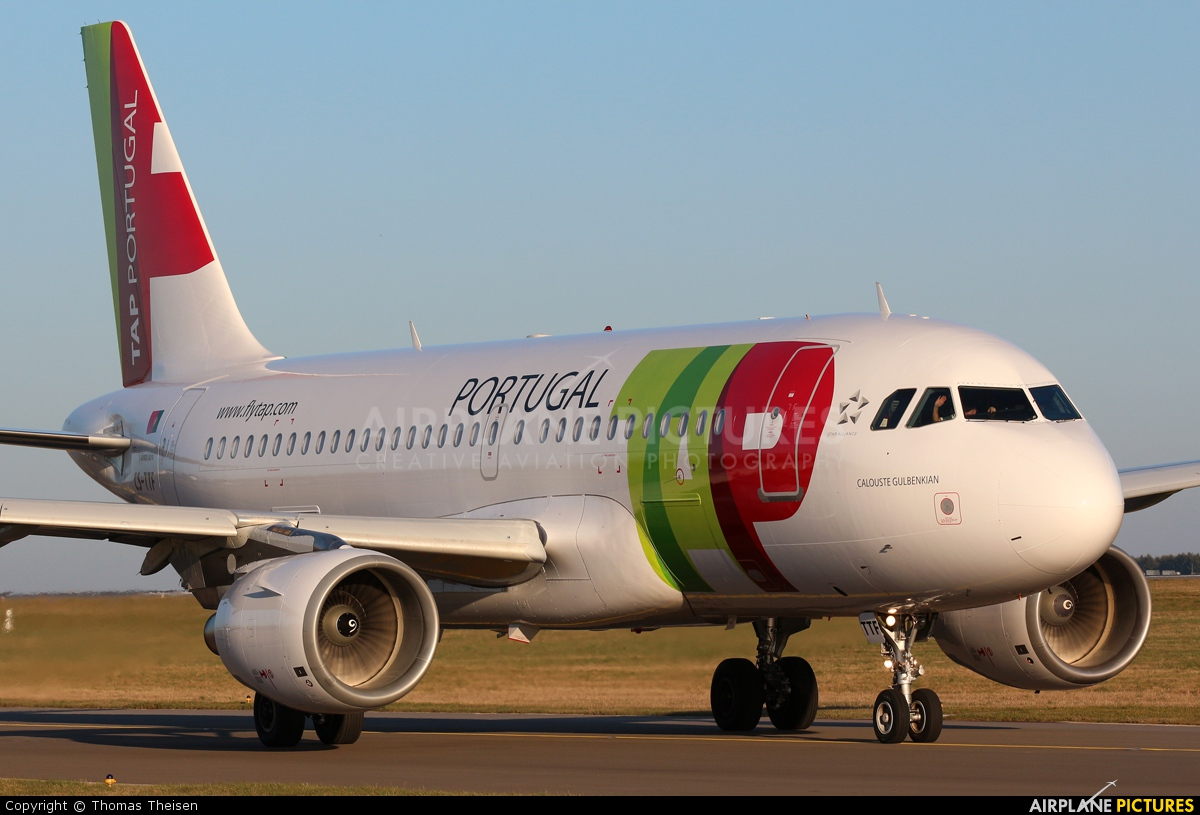 TAP Portugal CS-TTF aircraft at Luxembourg - Findel