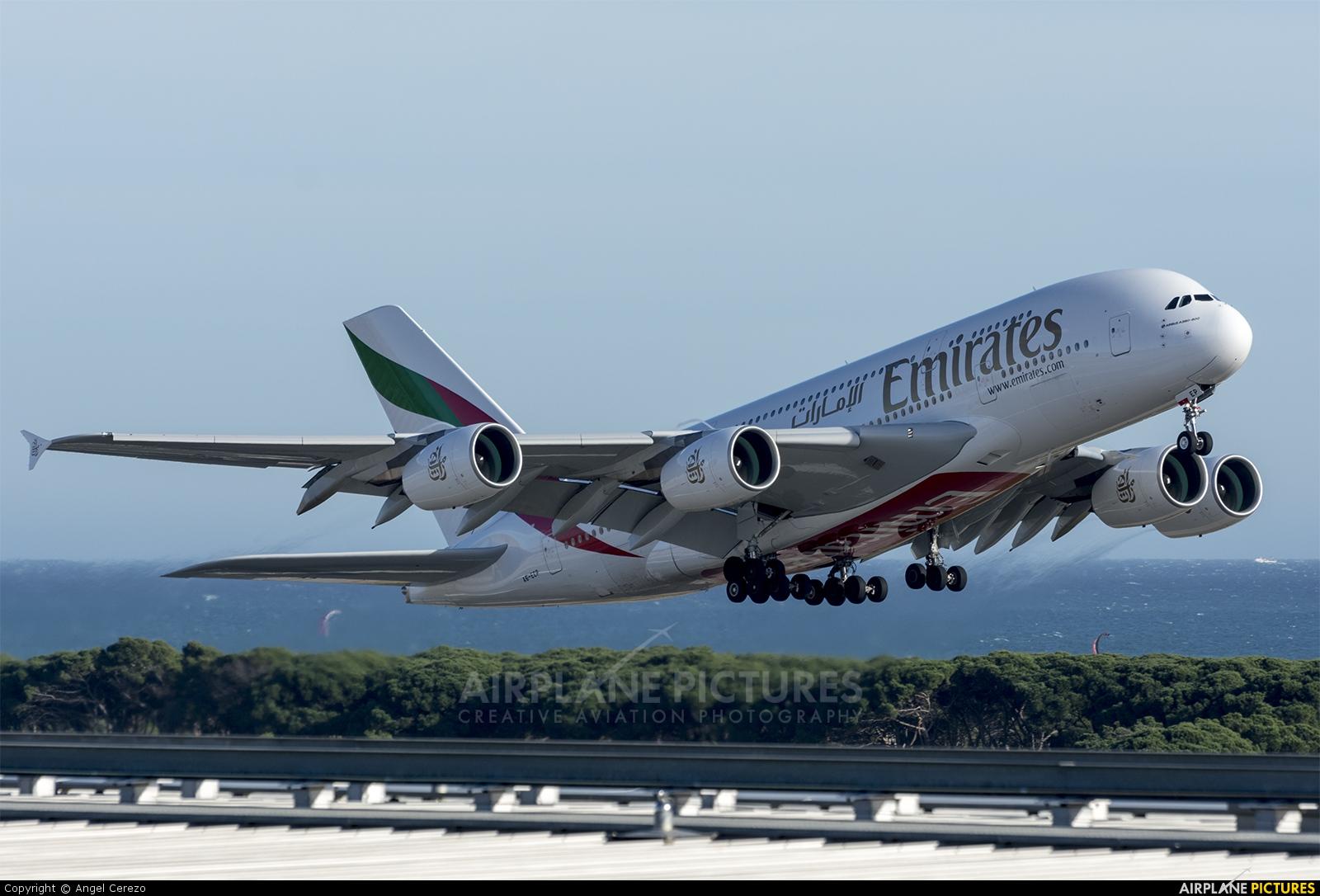 Emirates Airlines A6-EEP aircraft at Barcelona - El Prat