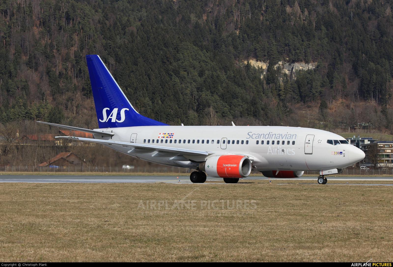 SAS - Scandinavian Airlines LN-RPG aircraft at Innsbruck