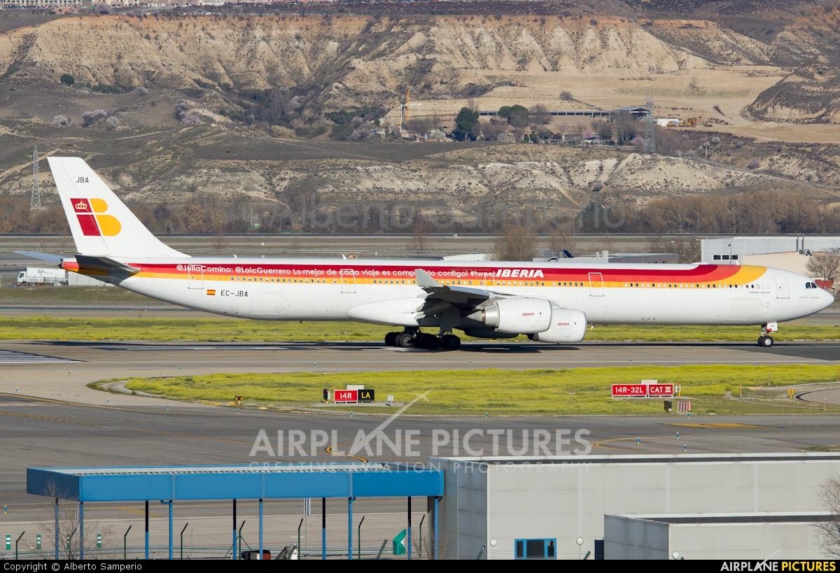 Iberia EC-JBA aircraft at Madrid - Barajas