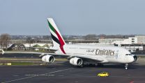 A6-EES - Emirates Airlines Airbus A380 aircraft