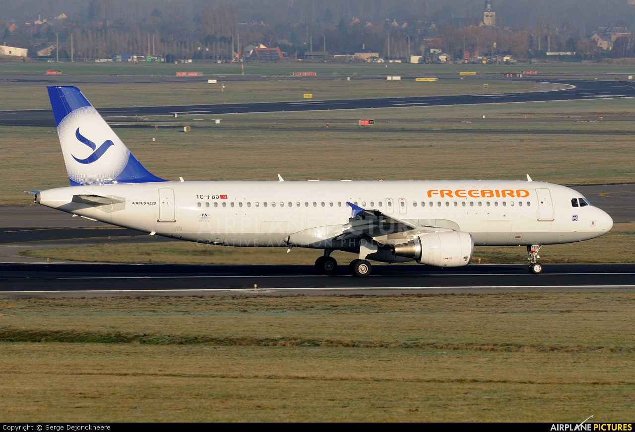 FreeBird Airlines TC-FBO aircraft at Brussels - Zaventem