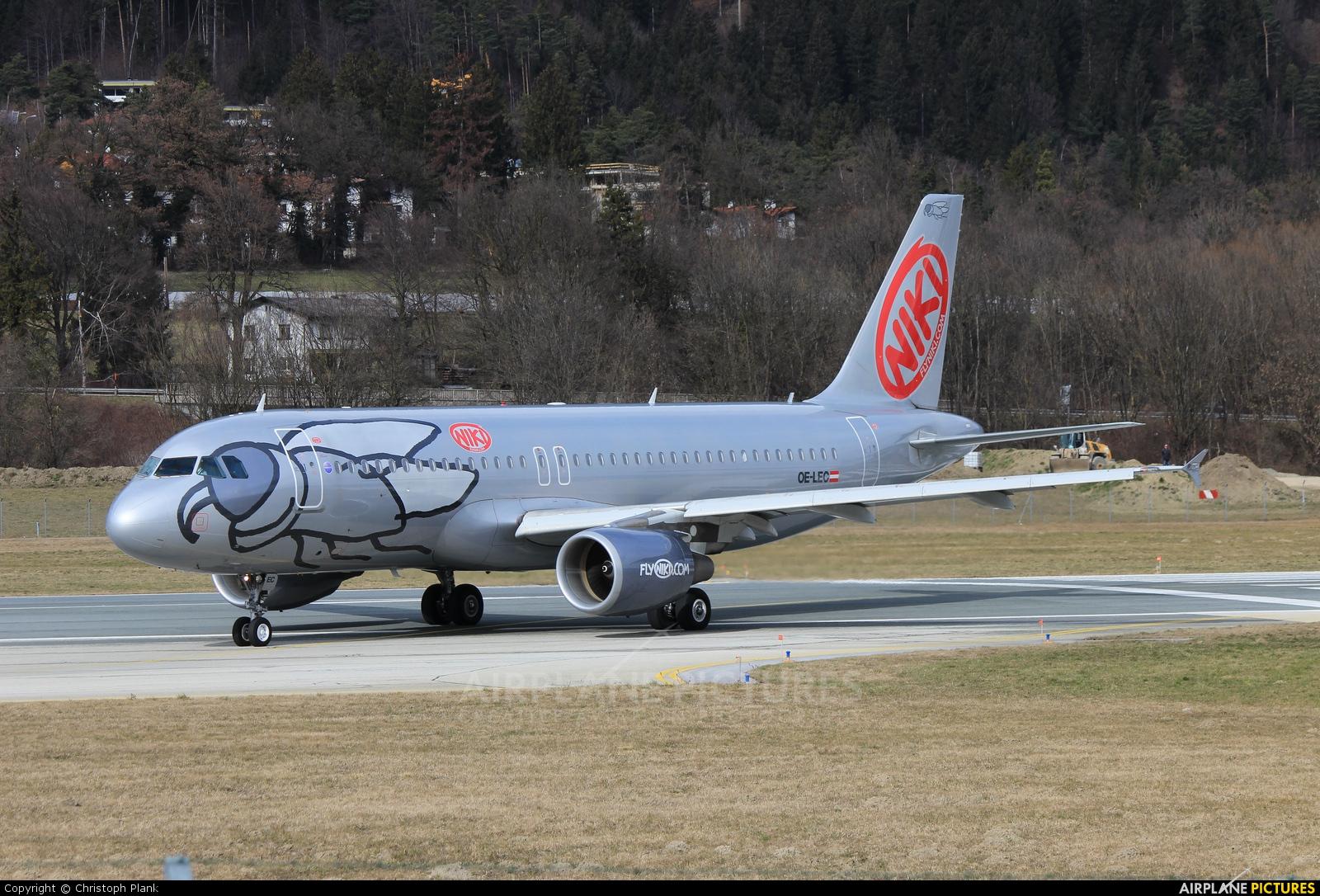 Niki OE-LEC aircraft at Innsbruck