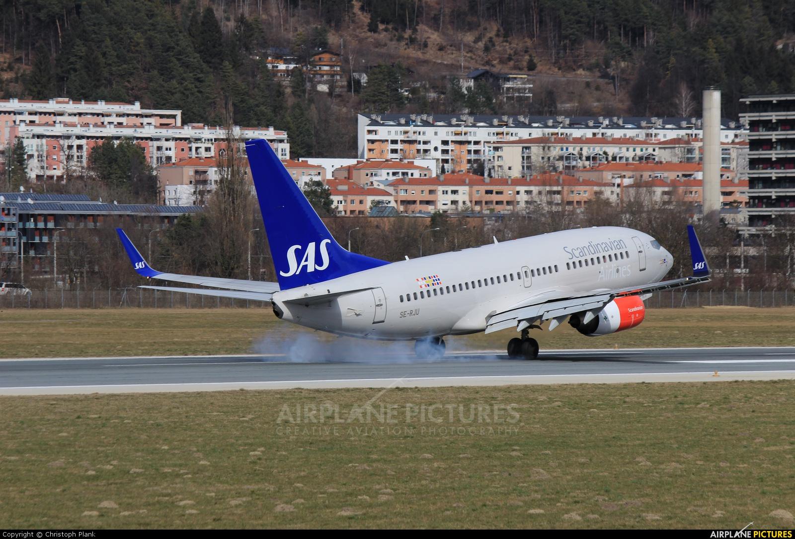 SAS - Scandinavian Airlines SE-RJU aircraft at Innsbruck