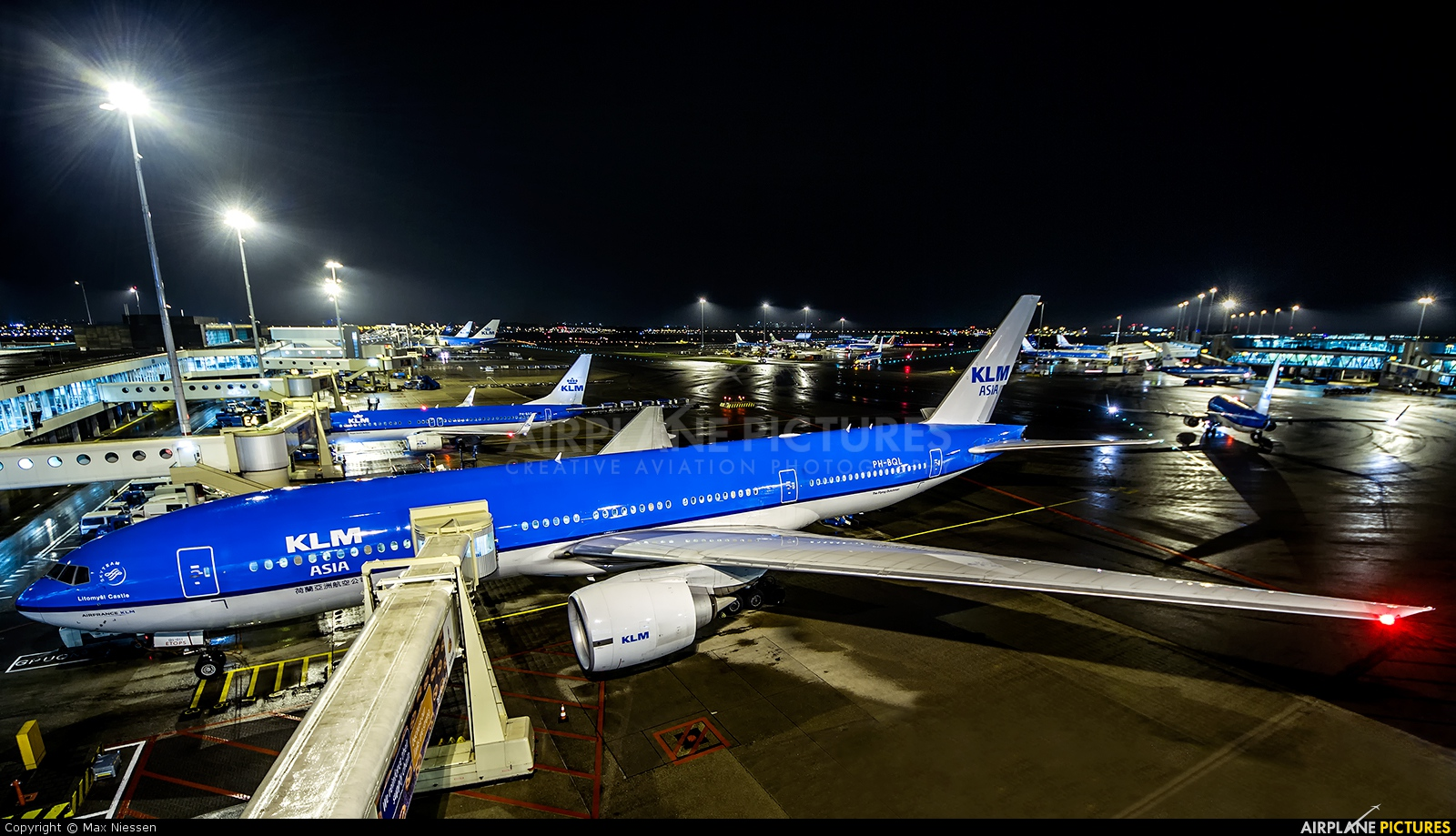 KLM PH-BQL aircraft at Amsterdam - Schiphol