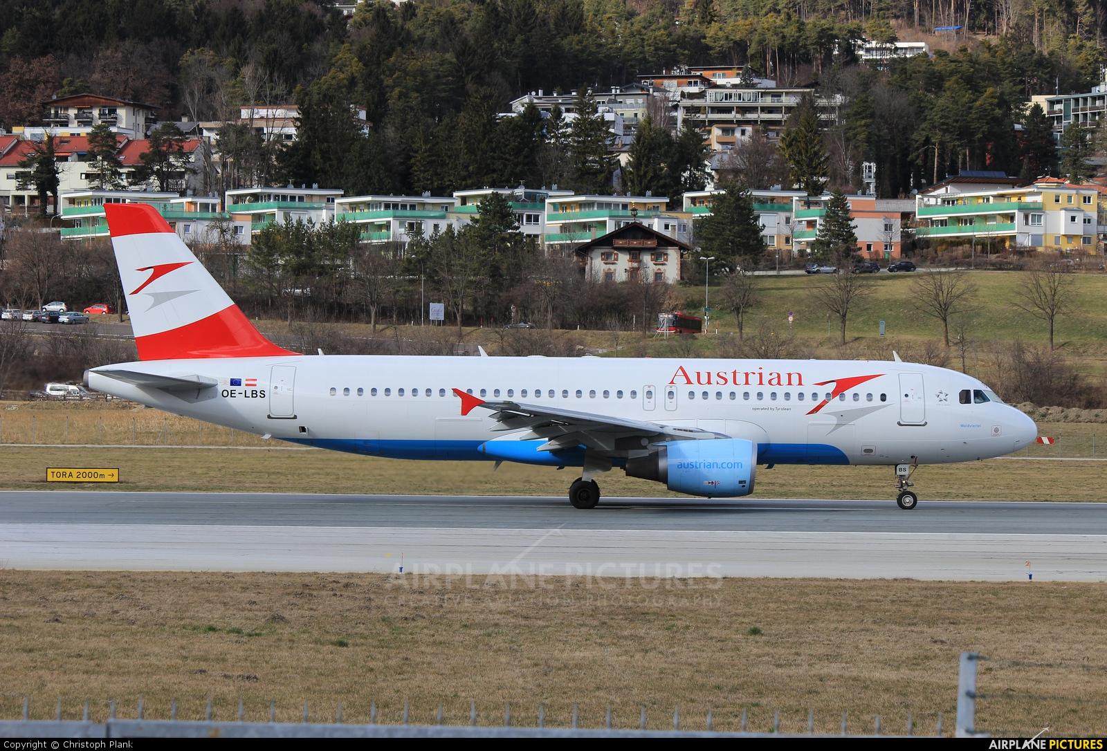 Austrian Airlines/Arrows/Tyrolean OE-LBS aircraft at Innsbruck