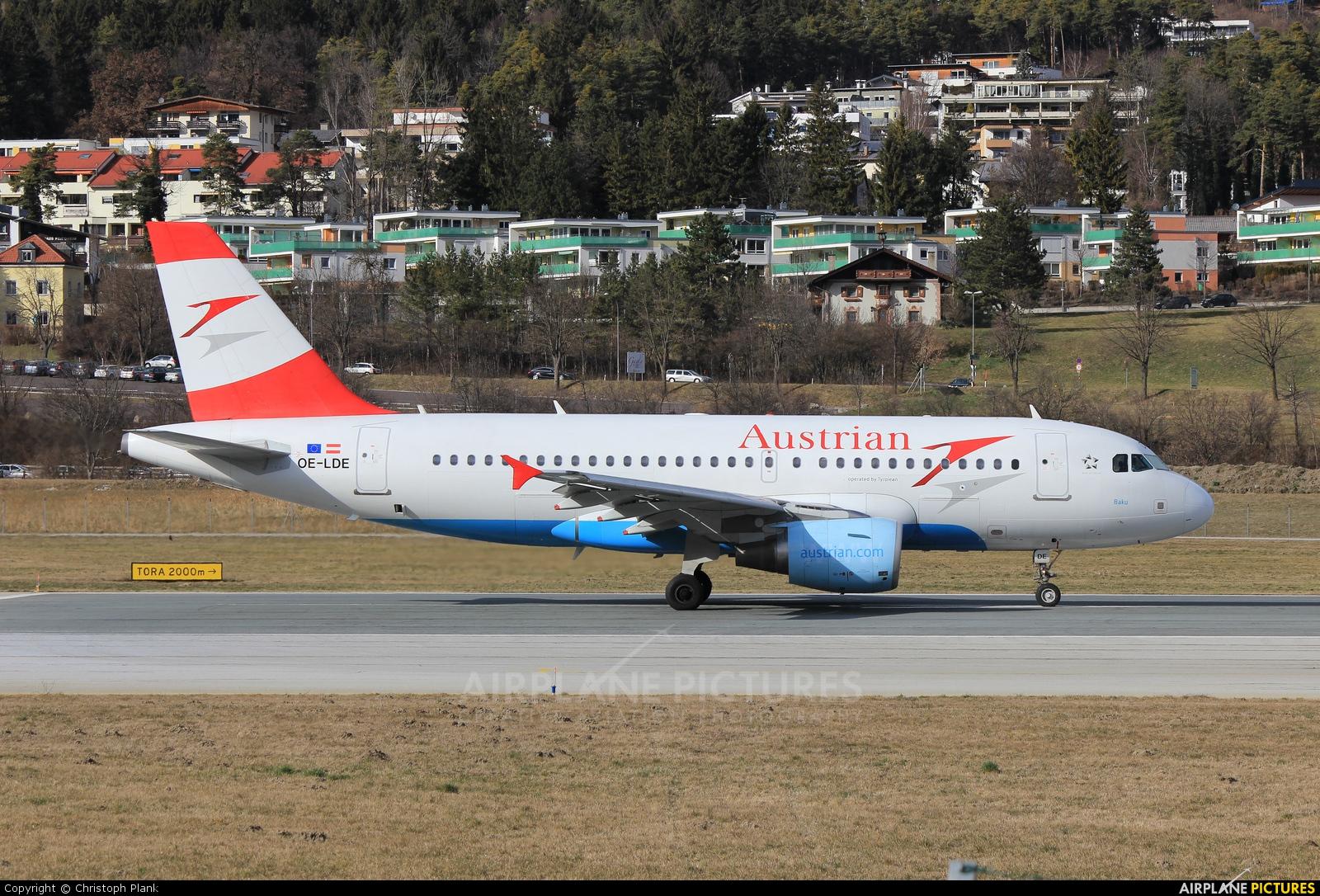 Austrian Airlines/Arrows/Tyrolean OE-LDE aircraft at Innsbruck