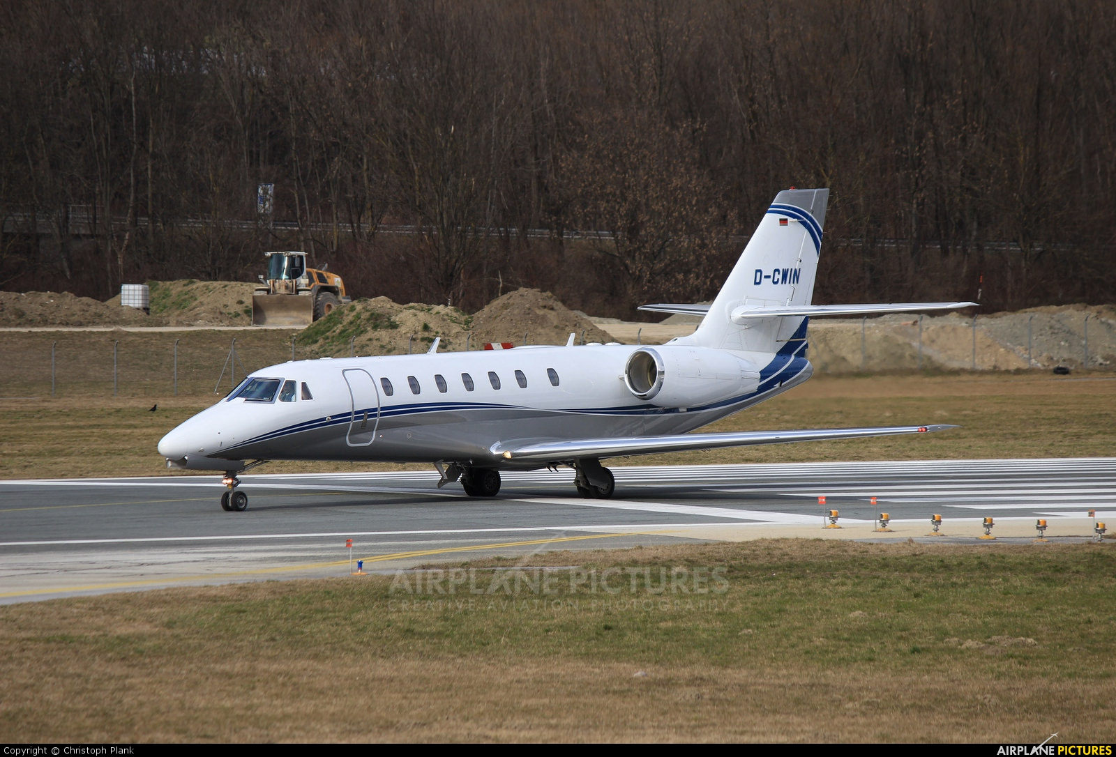 Private D-CWIN aircraft at Innsbruck