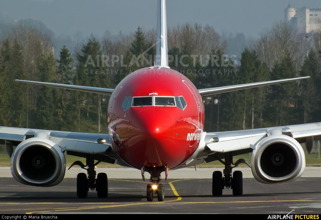 Norwegian Air Shuttle LN-NOR aircraft at Salzburg