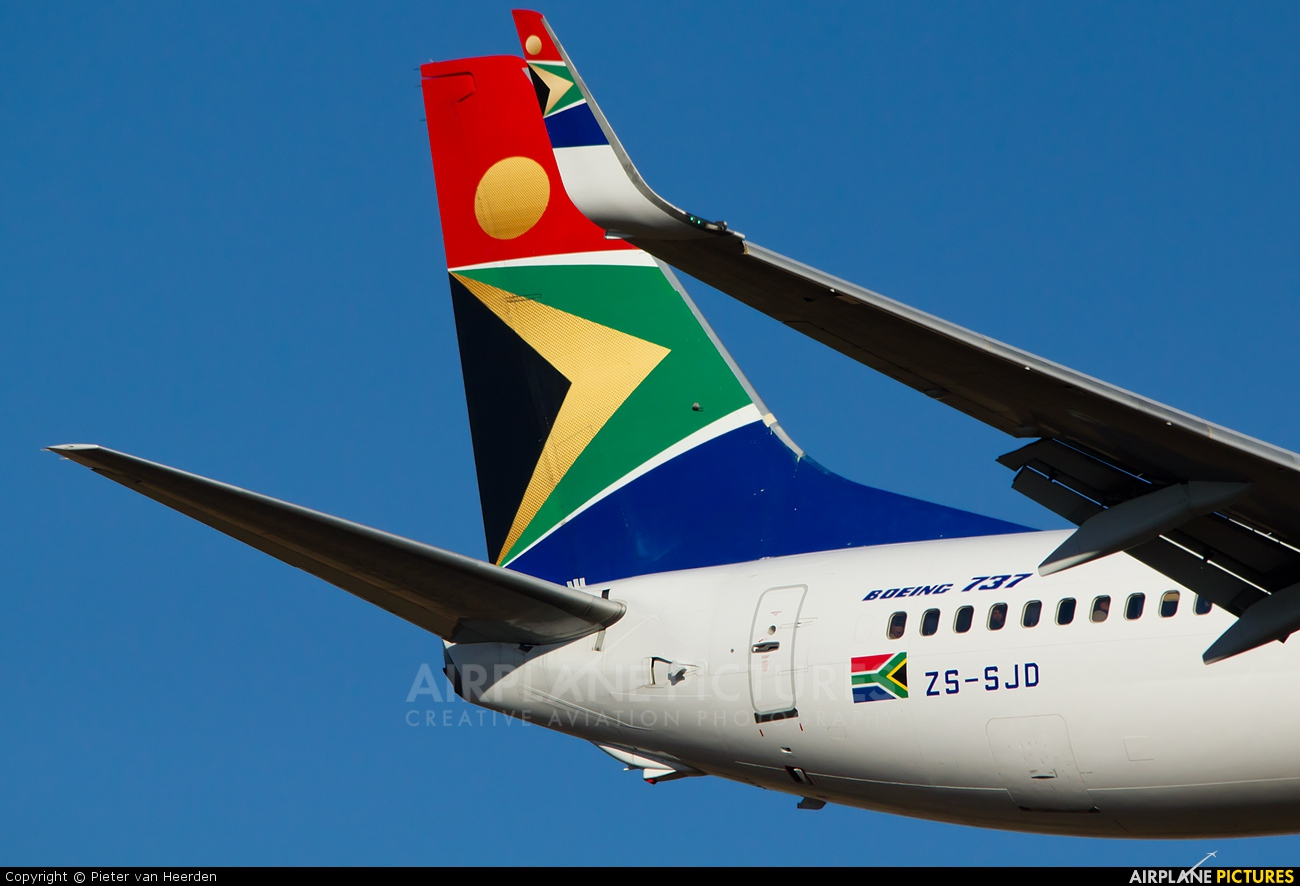 South African Airways ZS-SJD aircraft at Johannesburg - OR Tambo Intl