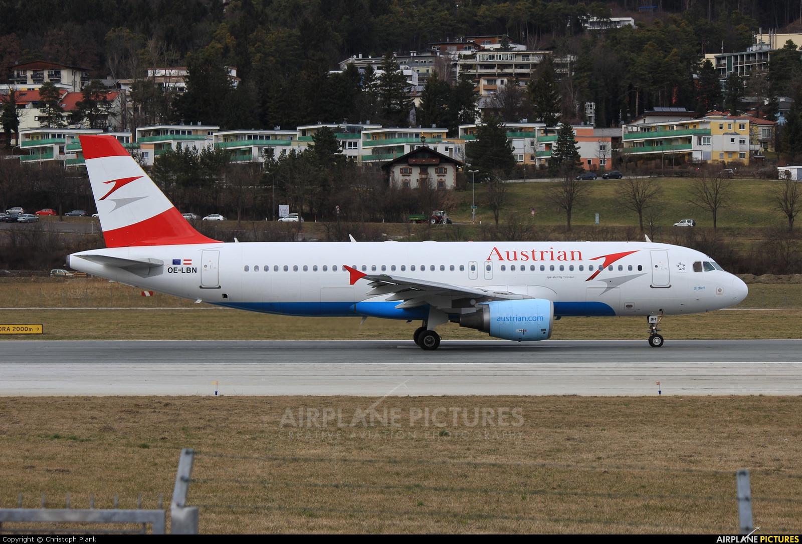 Austrian Airlines/Arrows/Tyrolean OE-LBN aircraft at Innsbruck