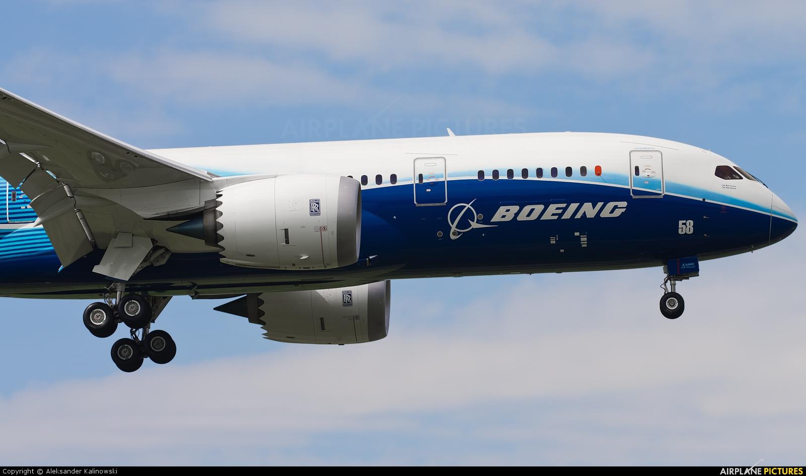 Boeing Company N787BA aircraft at Warsaw - Frederic Chopin