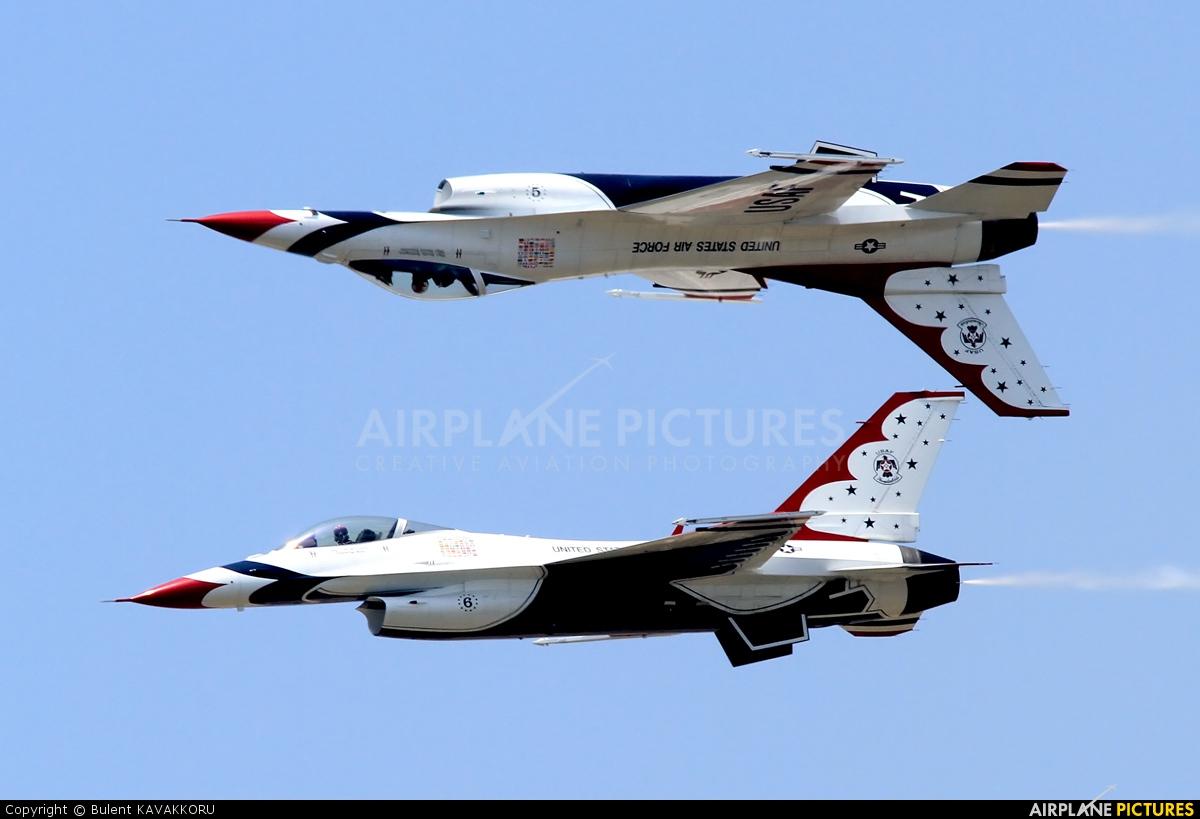 USA - Air Force : Thunderbirds 87-0303 aircraft at Izmir - Cigli