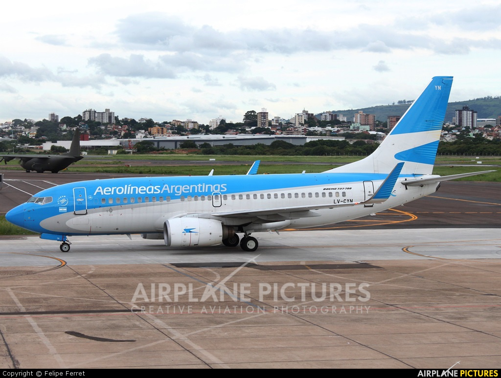 Aerolineas Argentinas LV-CYN aircraft at Porto Alegre - Salgado Filho