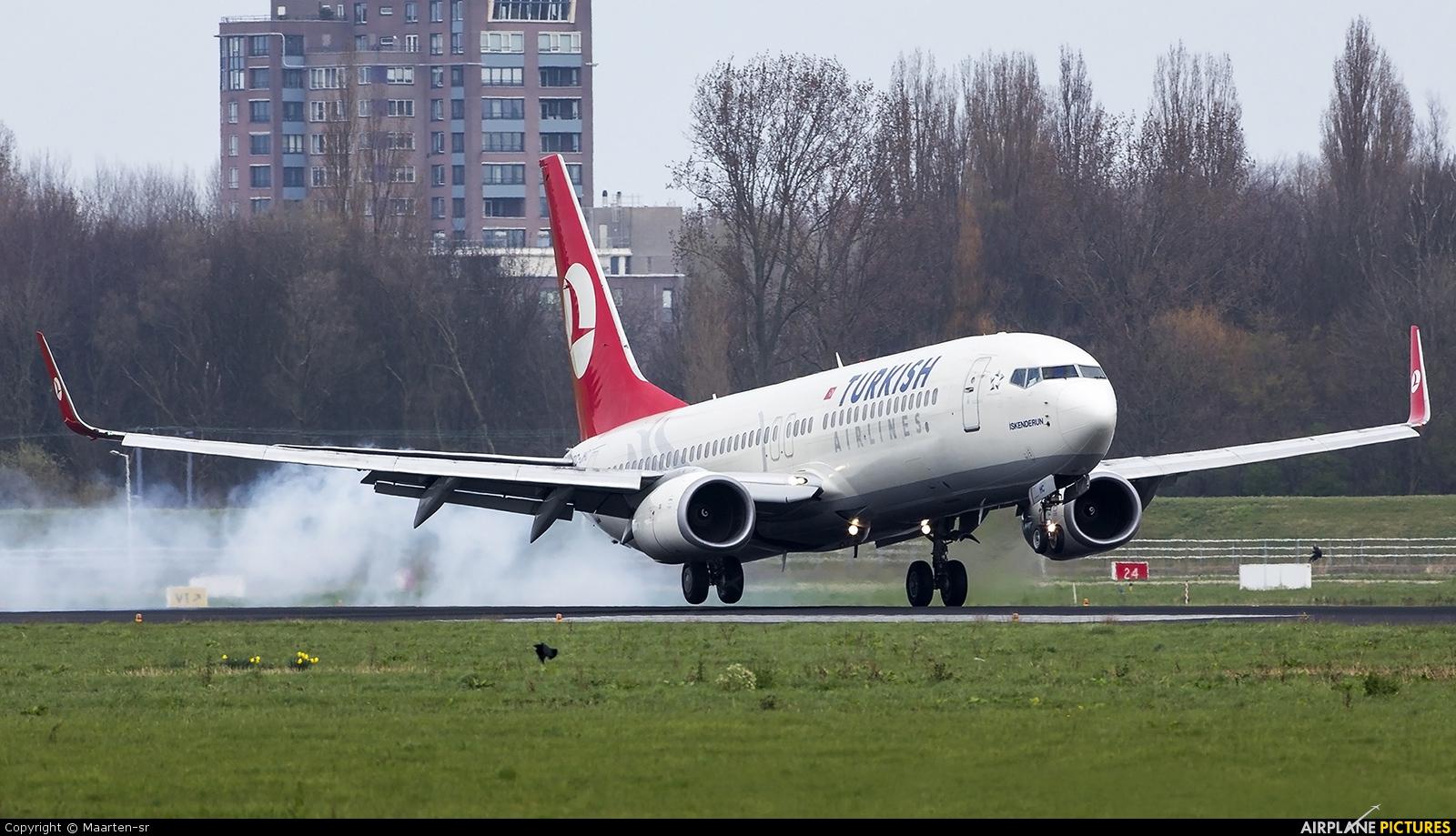 Turkish Airlines TC-JHC aircraft at Rotterdam