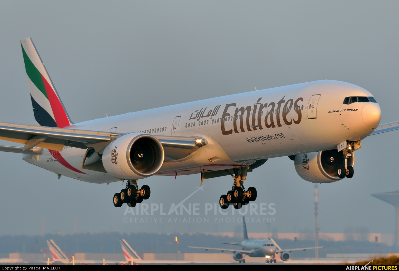 Emirates Airlines A6-ENG aircraft at Paris - Charles de Gaulle