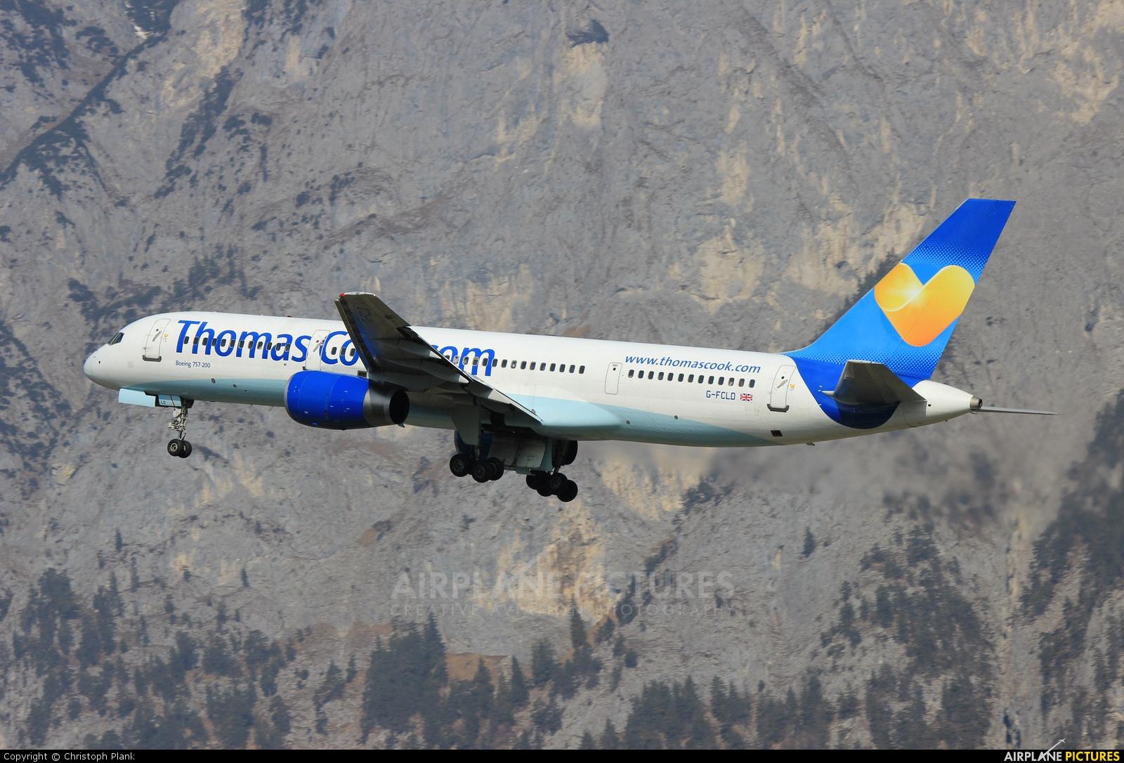 Thomas Cook G-FCLD aircraft at Innsbruck