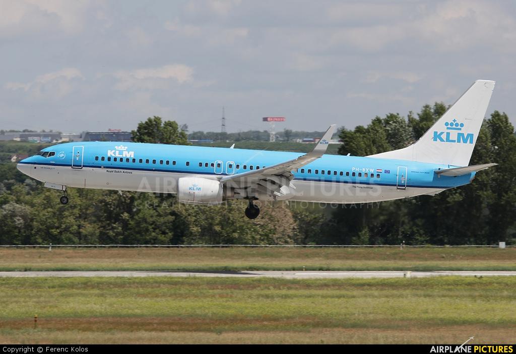 KLM PH-BXW aircraft at Budapest Ferenc Liszt International Airport