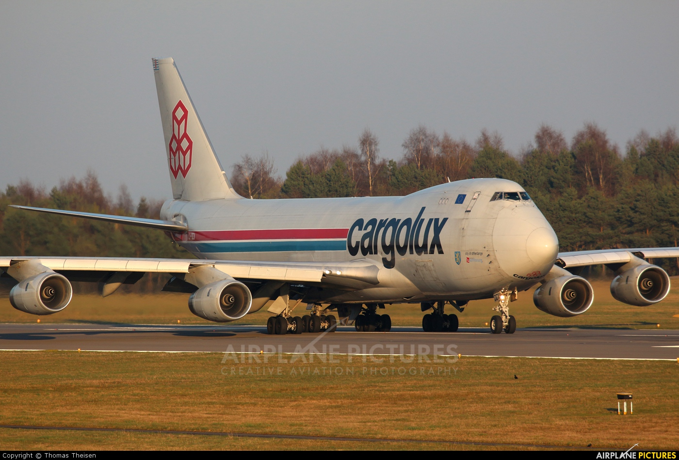 Cargolux LX-OCV aircraft at Luxembourg - Findel