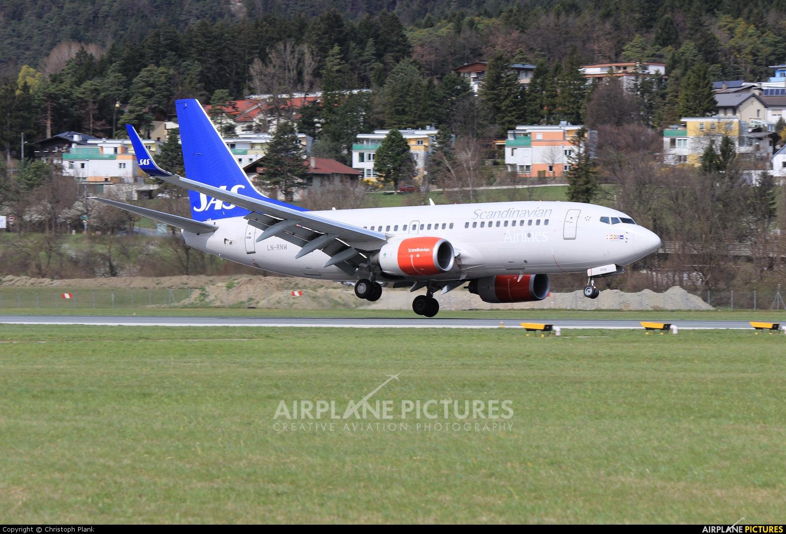 SAS - Scandinavian Airlines LN-RNW aircraft at Innsbruck