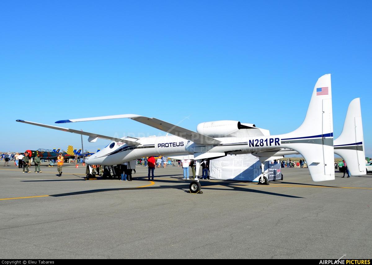Scaled Composites N281PR aircraft at Lancaster - General William J Fox