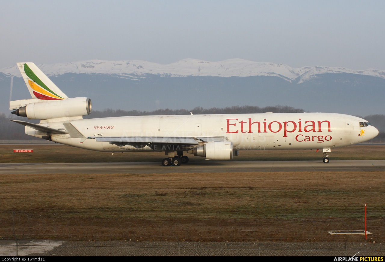 Ethiopian Cargo ET-AND aircraft at Geneva Intl