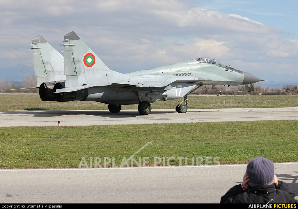Bulgaria - Air Force 17 aircraft at Graf Ignatievo