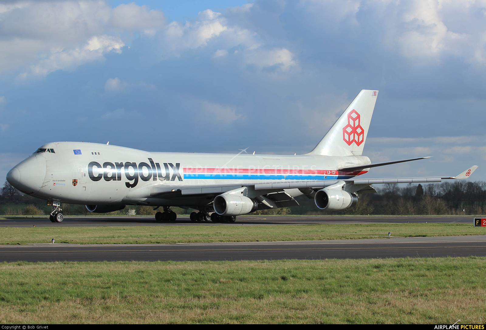 Cargolux LX-TCV aircraft at Luxembourg - Findel