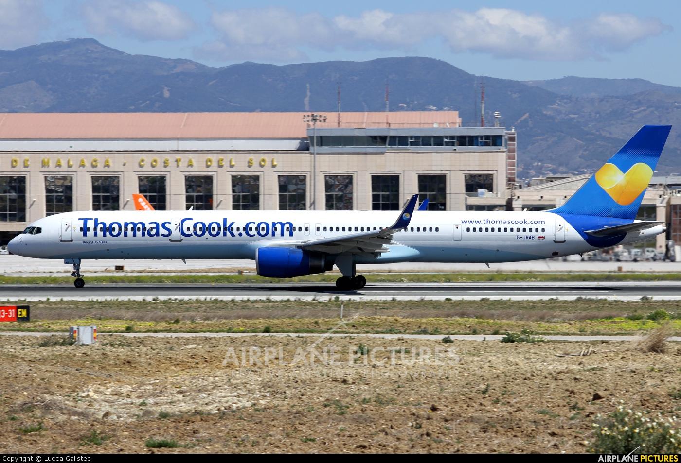 Thomas Cook G-JMAB aircraft at Málaga