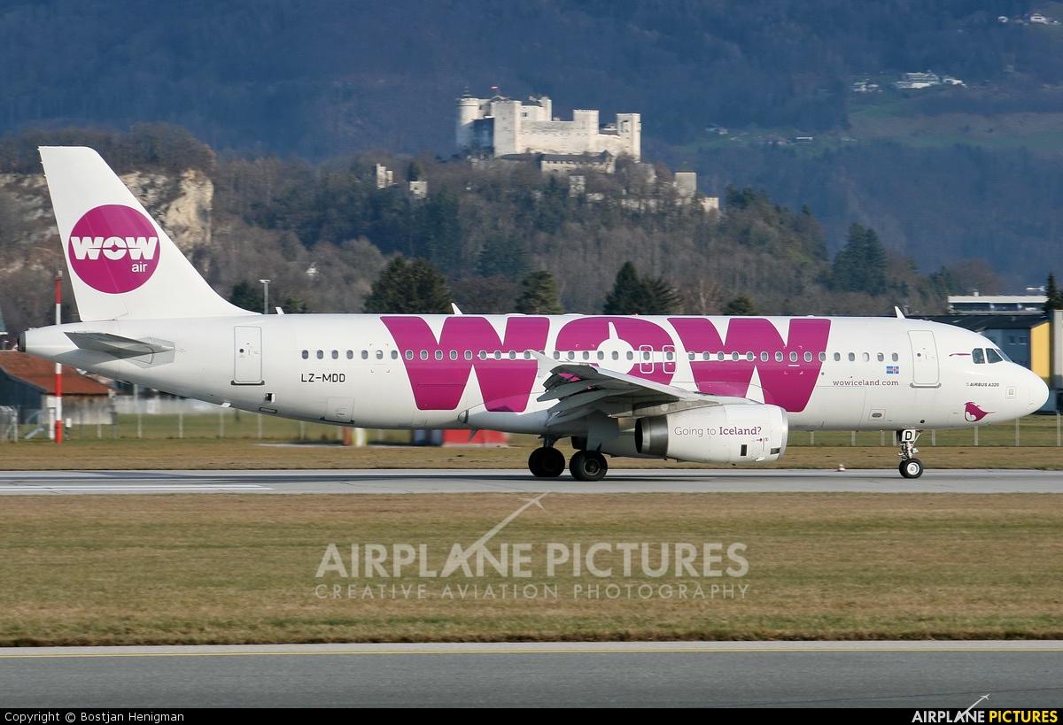 WOW Air LZ-MDD aircraft at Salzburg