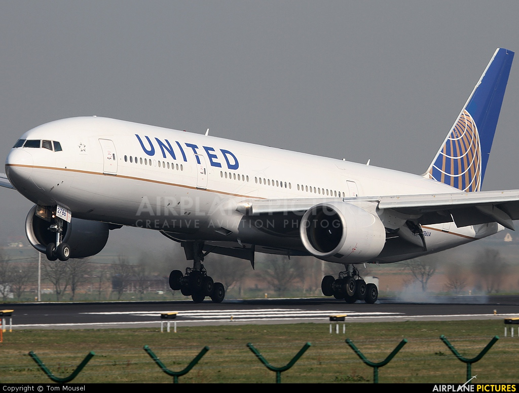 United Airlines N786UA aircraft at Brussels - Zaventem