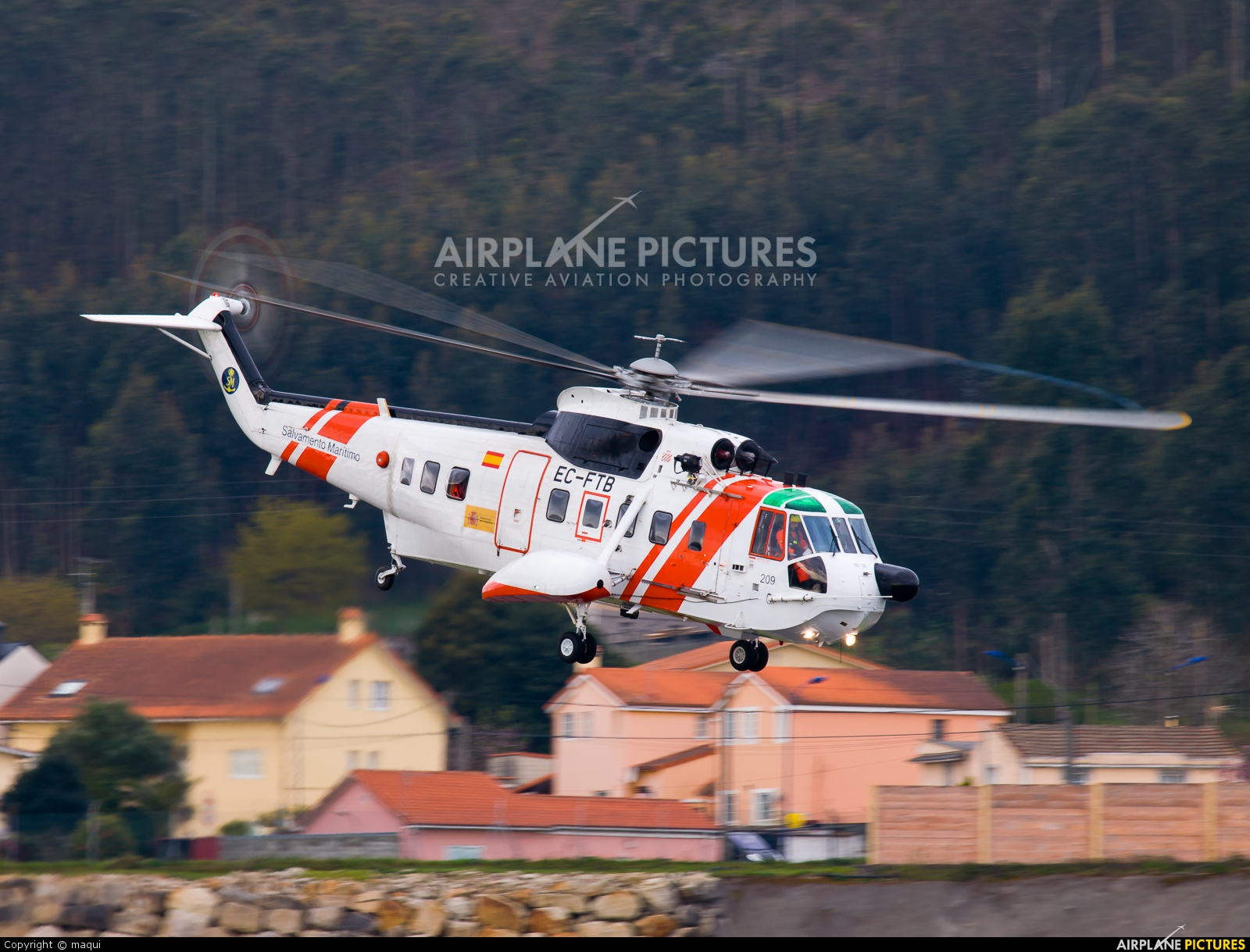 Spain - Coast Guard EC-FTB aircraft at La Coruña