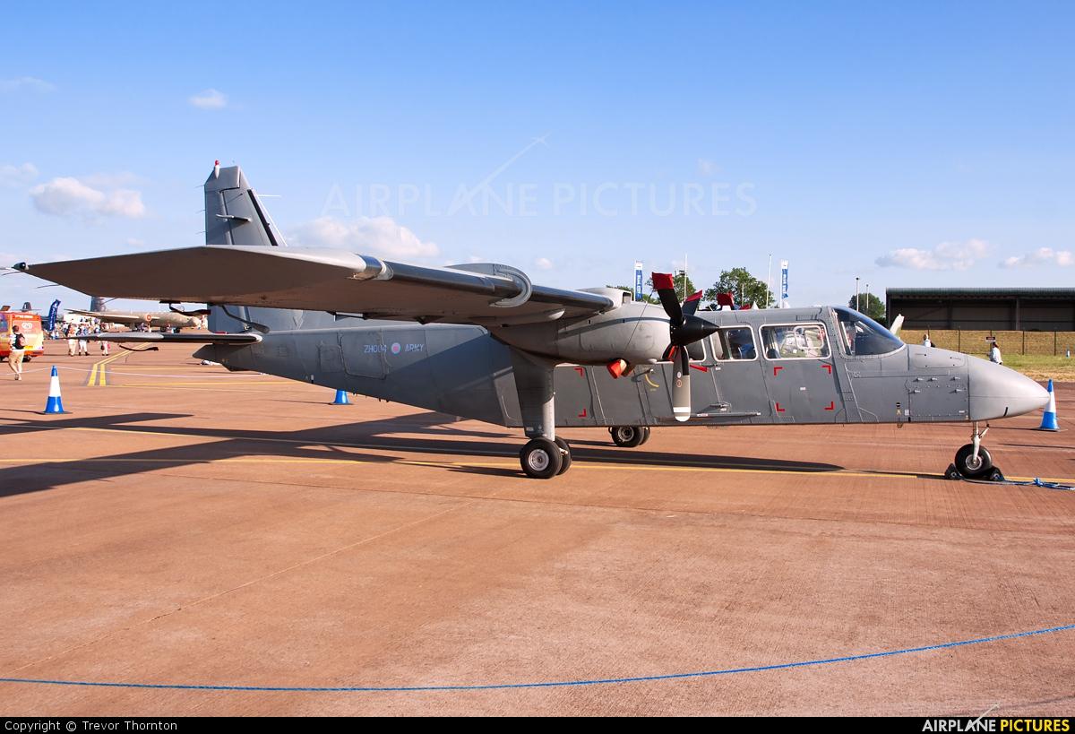 British Army ZH004 aircraft at Fairford