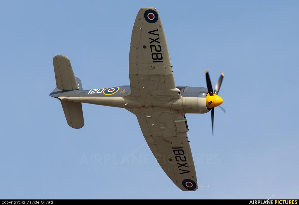 Naval Aviation G-RNHF aircraft at Duxford