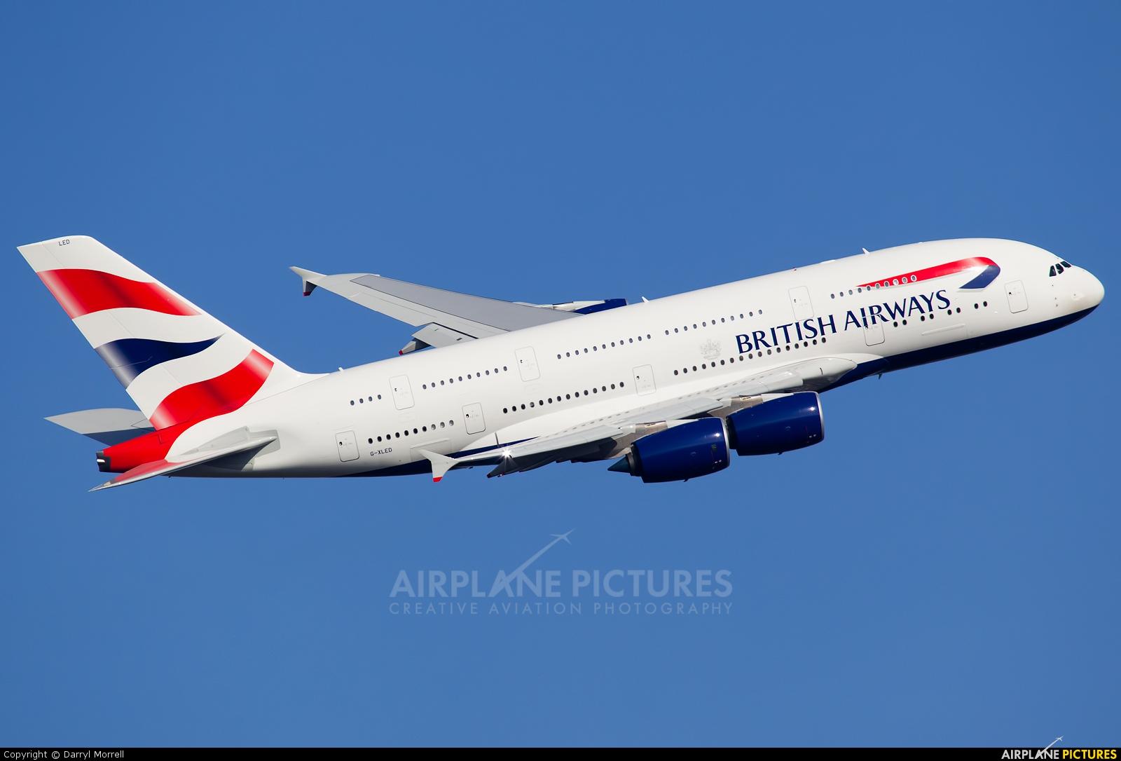 British Airways G-XLED aircraft at London - Heathrow